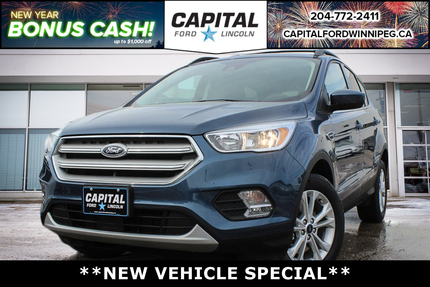 New 2018 Ford Escape SE*4WD*Heated Seats*1.5L