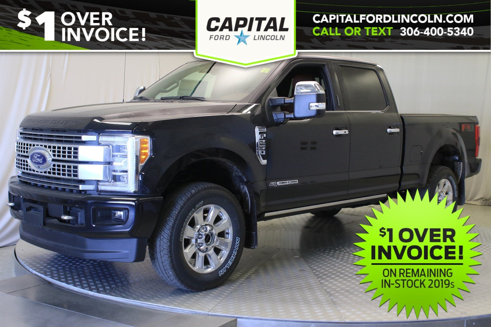New 2019 Ford F-250 Diesel Platinum