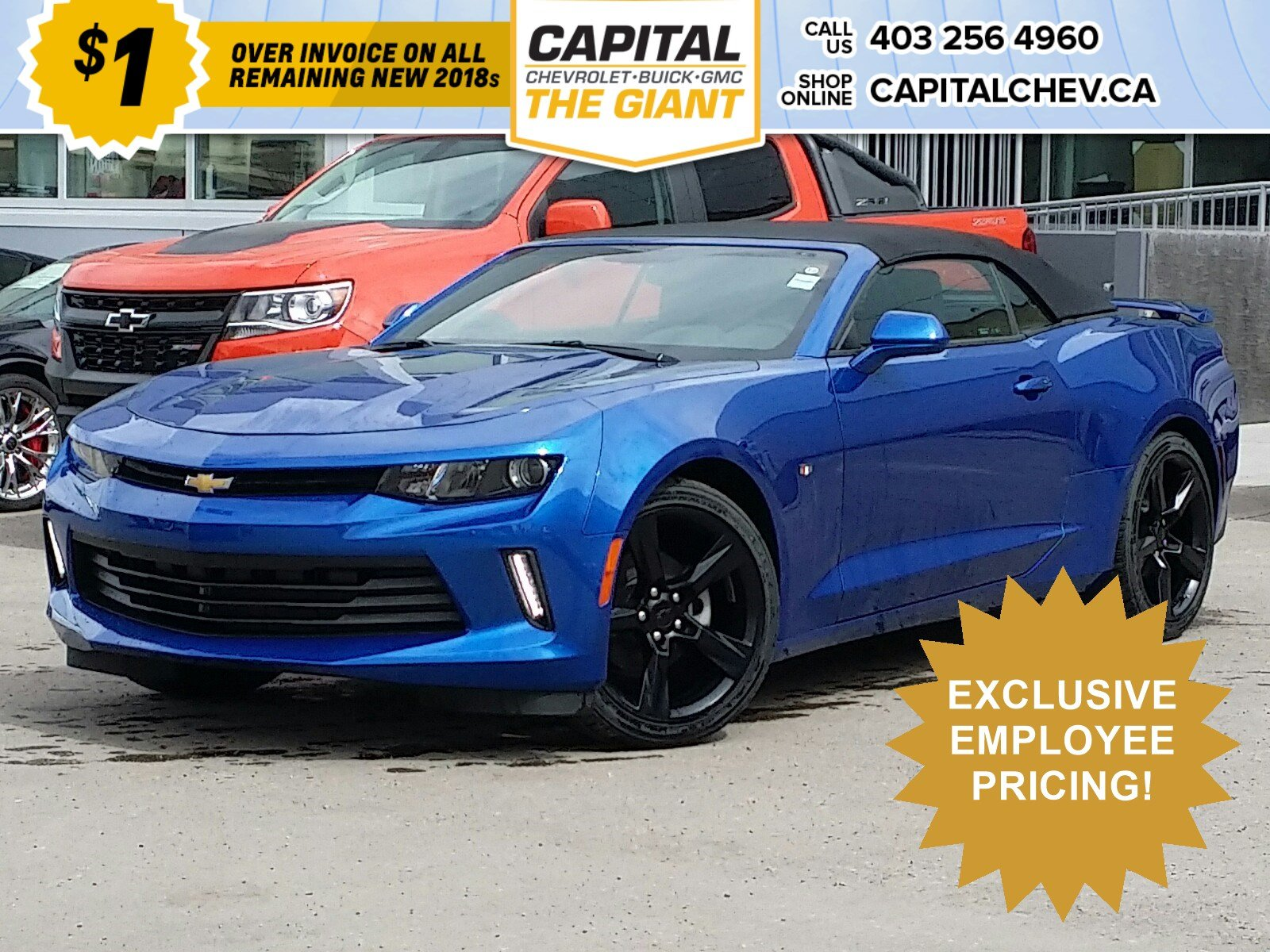 New 2018 Chevrolet Camaro LS - $1 OVER INVOICE