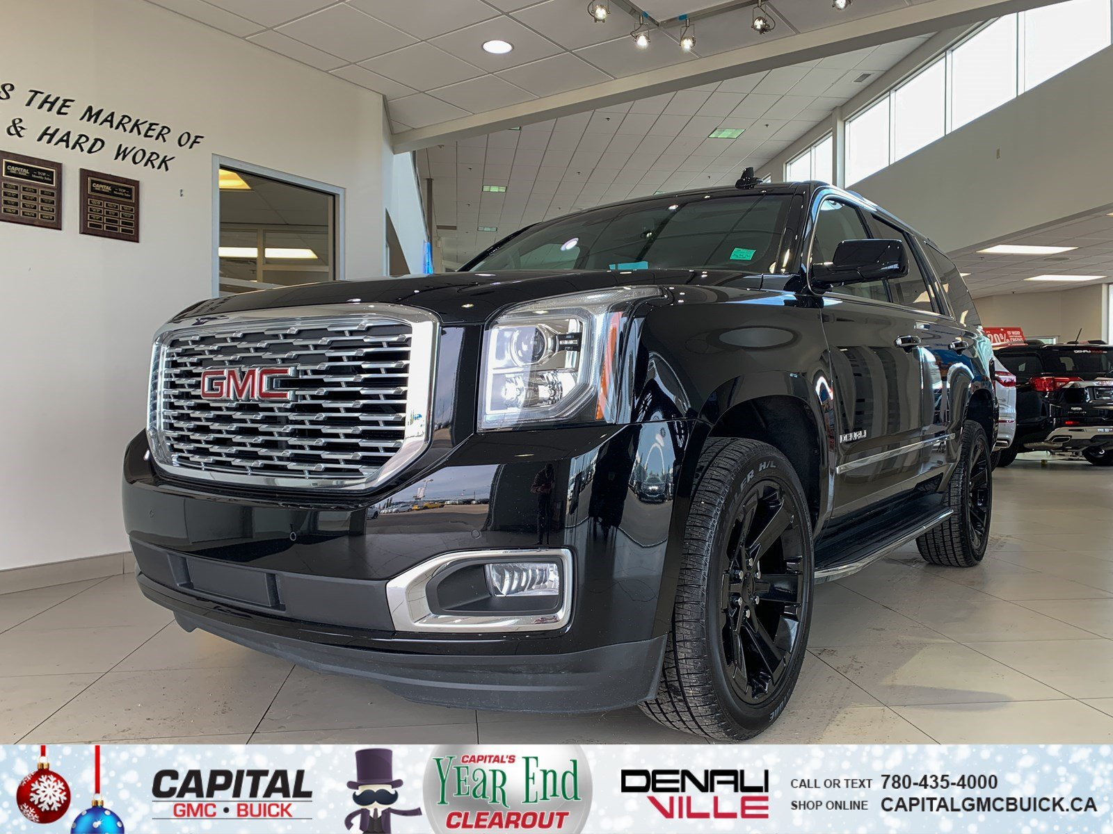 Pre-Owned 2018 GMC Yukon DENALI 4WD | HEATED & COOLED SEATS | HEATED STEERING | NAV | 12K KMS
