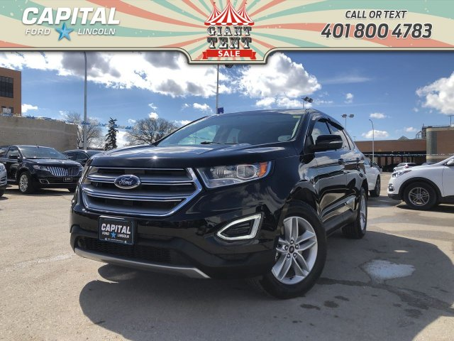 Pre Owned 2017 Ford Edge Sel Awd Local Lease Return Leather Sunroof Nav Awd Stock L0276a