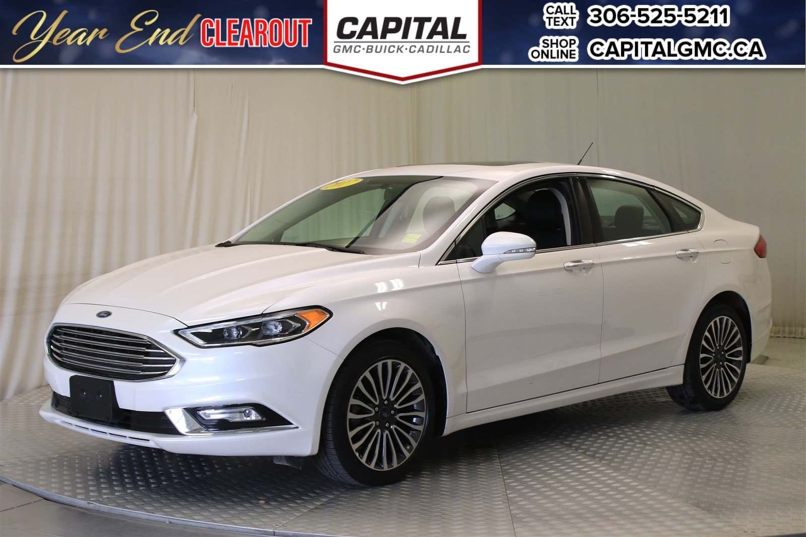 Certified pre owned 2017 ford fusion se awdnavsunroofleather