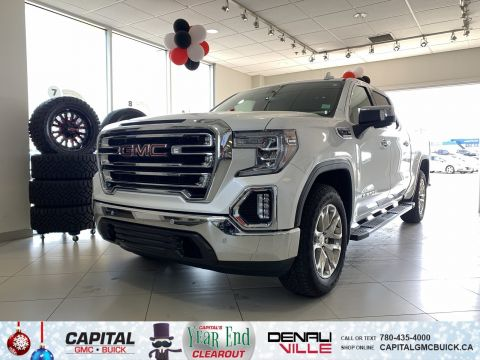 Pre-Owned 2019 GMC Sierra 1500 CREW CAB SLT | 6.2L | DRIVER ALERT PKG | NAV | HEATED & COOLED SEATS | 8K KMS